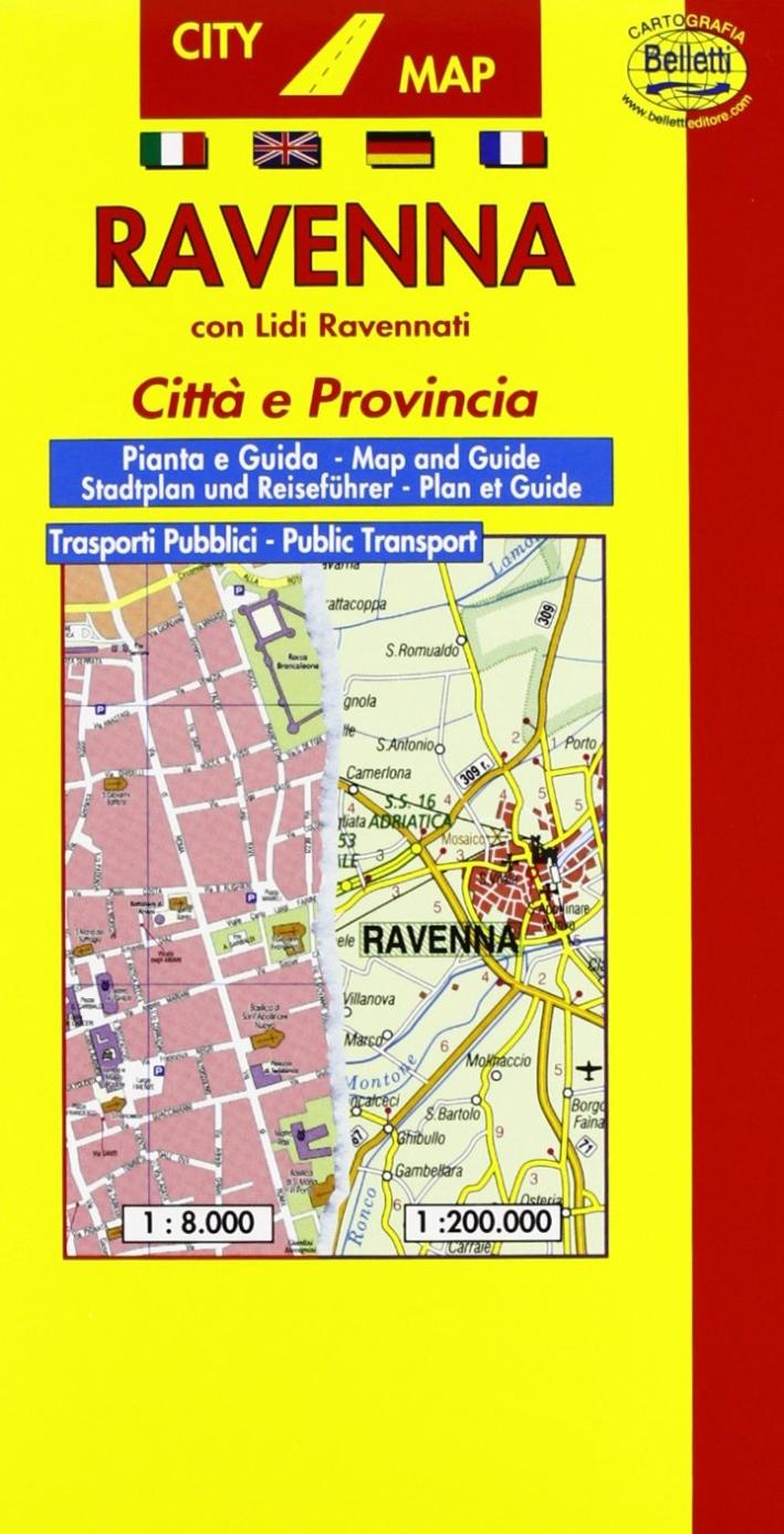 Ravenna 1:8.000. Con guida turistica