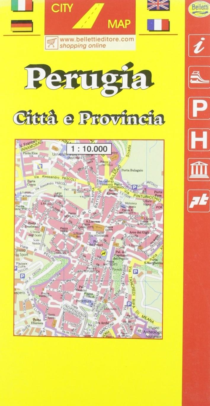 Perugia 1:10.000. Con guida turistica