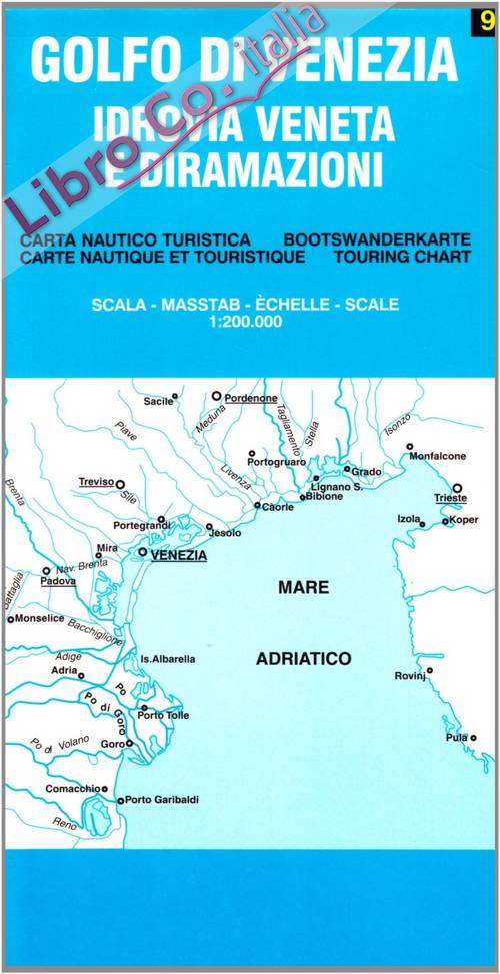 Golfo di Venezia. Idrovia veneta e diramazioni 1:200.000