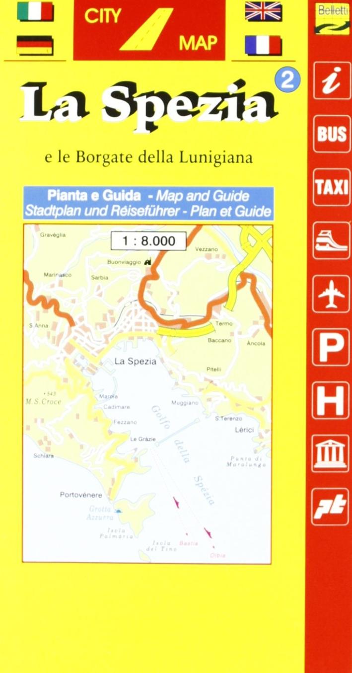 La Spezia. Con Lunigiana 1:8.000