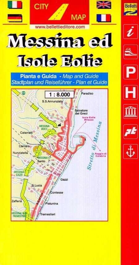 Messina e isole Eolie 1:10.000