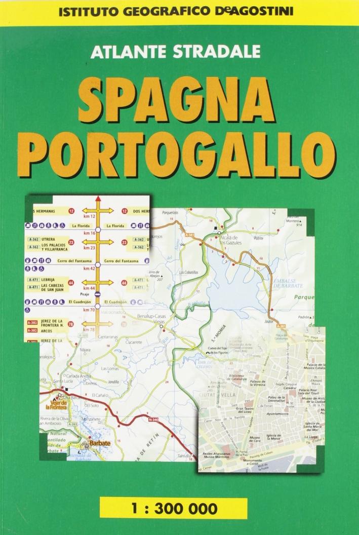 Atlante stradale Spagna-Portogallo 1:300.000