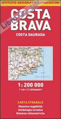 Costa Brava, Costa Daurada 1:200.000.