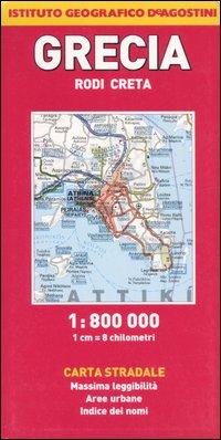 Grecia. Rodi, Creta 1:800.000