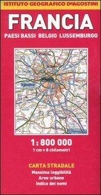 Francia, Paesi Bassi, Belgio, Lussemburgo 1:800.000