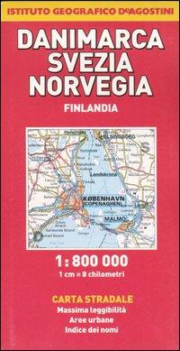 Danimarca, Svezia, Norvegia, Finlandia 1:800.000