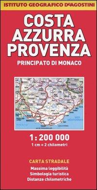 Costa Azzurra, Provenza, Principato di Monaco 1:200.000