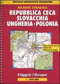 Viaggia l'Europa. Repubblica Ceca, Slovacchia, Ungheria, Polonia 1:800.000