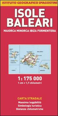 Isole Baleari. Maiorca, Minorca, Ibiza, Formentera 1:175.000.