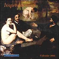 Impressionisti. Calendario 2003 spirale