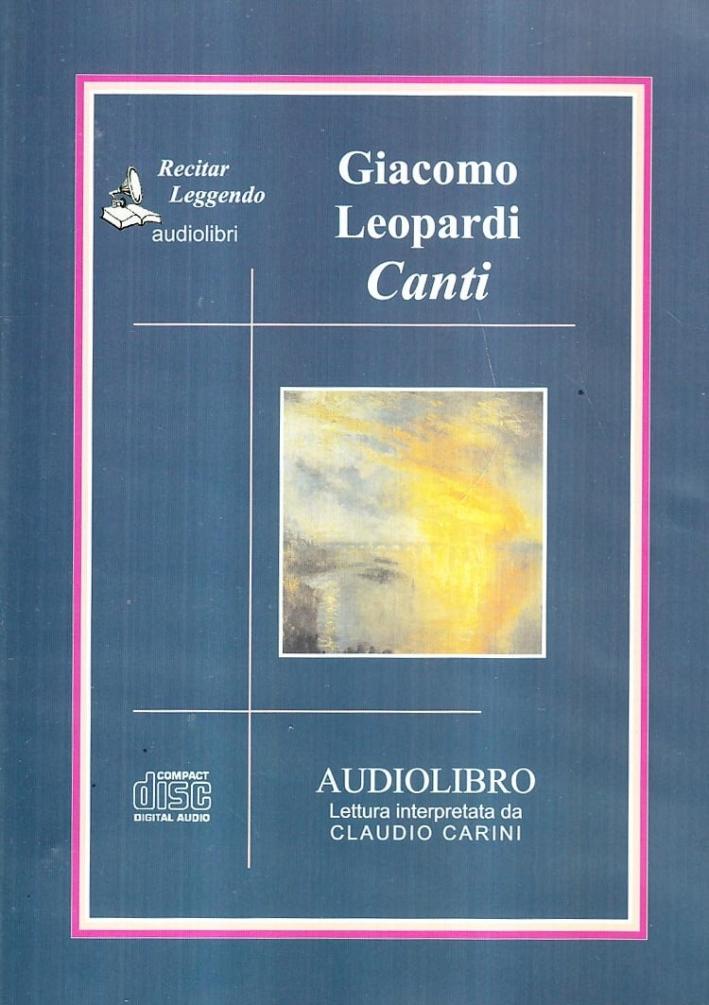 Canti. Audiolibro. CD Audio