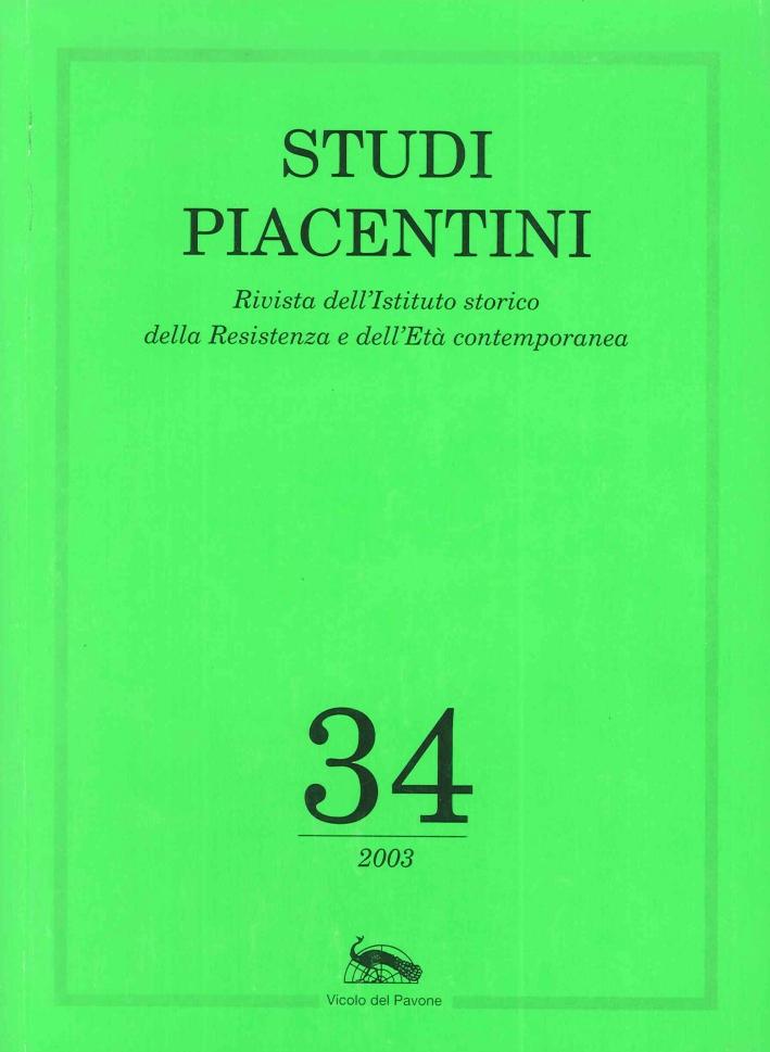 Studi Piacentini. Vol. 34