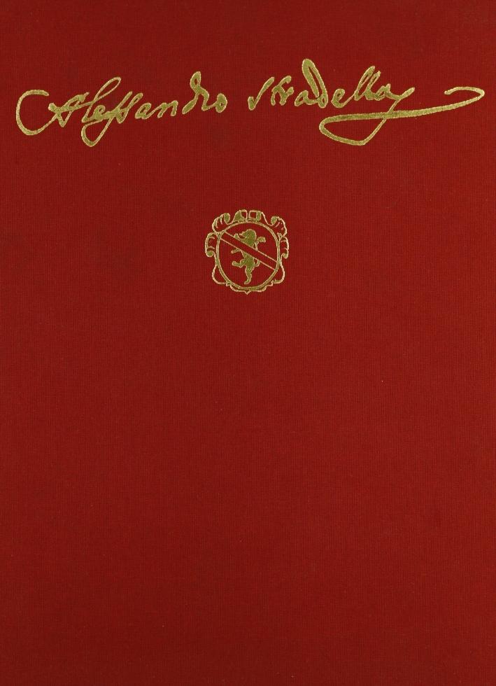 Alessandro Stradella. Opera Omnia. Moro per Amore. Musica Teatrale. [Edizione Facsimile]. Serie II, Vol. 1.