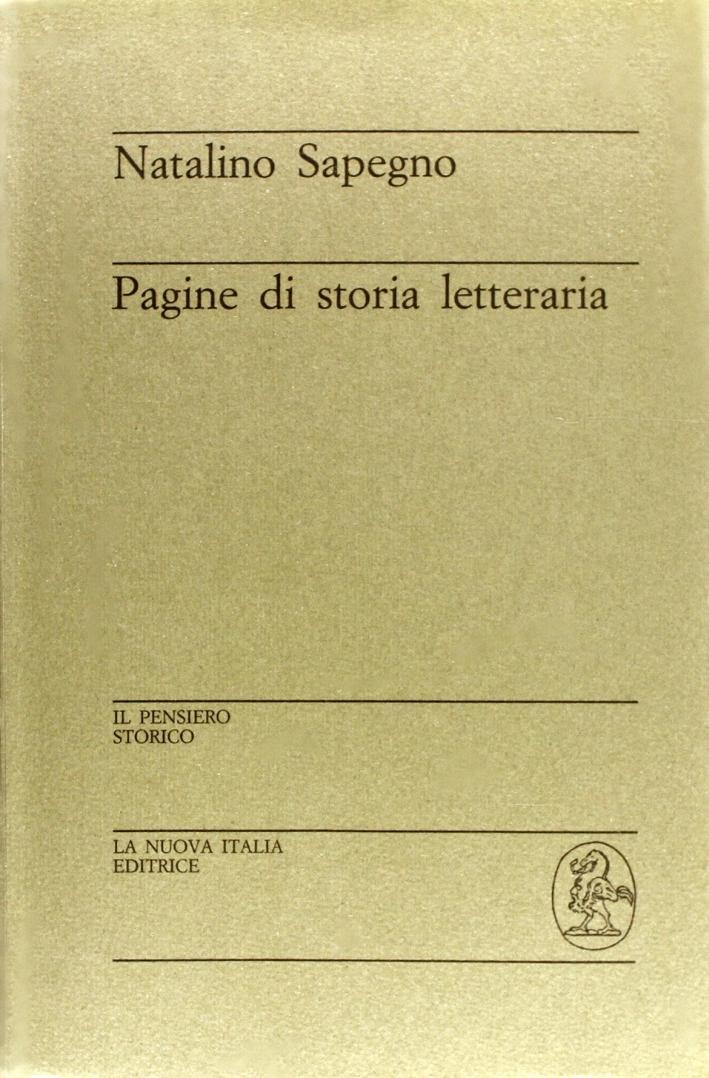 Pagine di storia letteraria