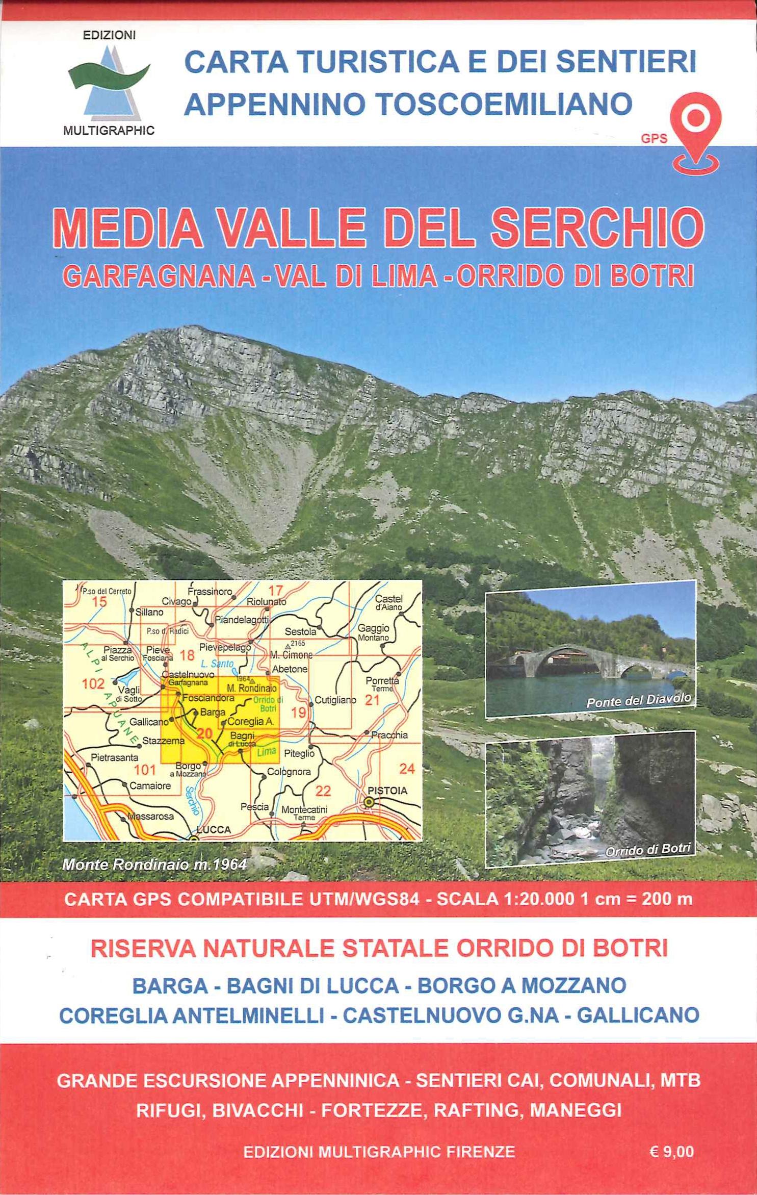 Media Valle del Serchio. Garfagnana, Val di Lima. 20. Scala 1:25.000