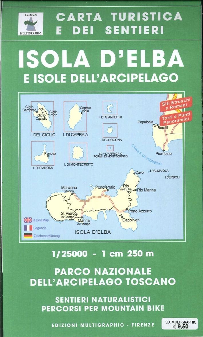 Isola d'Elba e isole dell'arcipelago. 1:25.000. 502