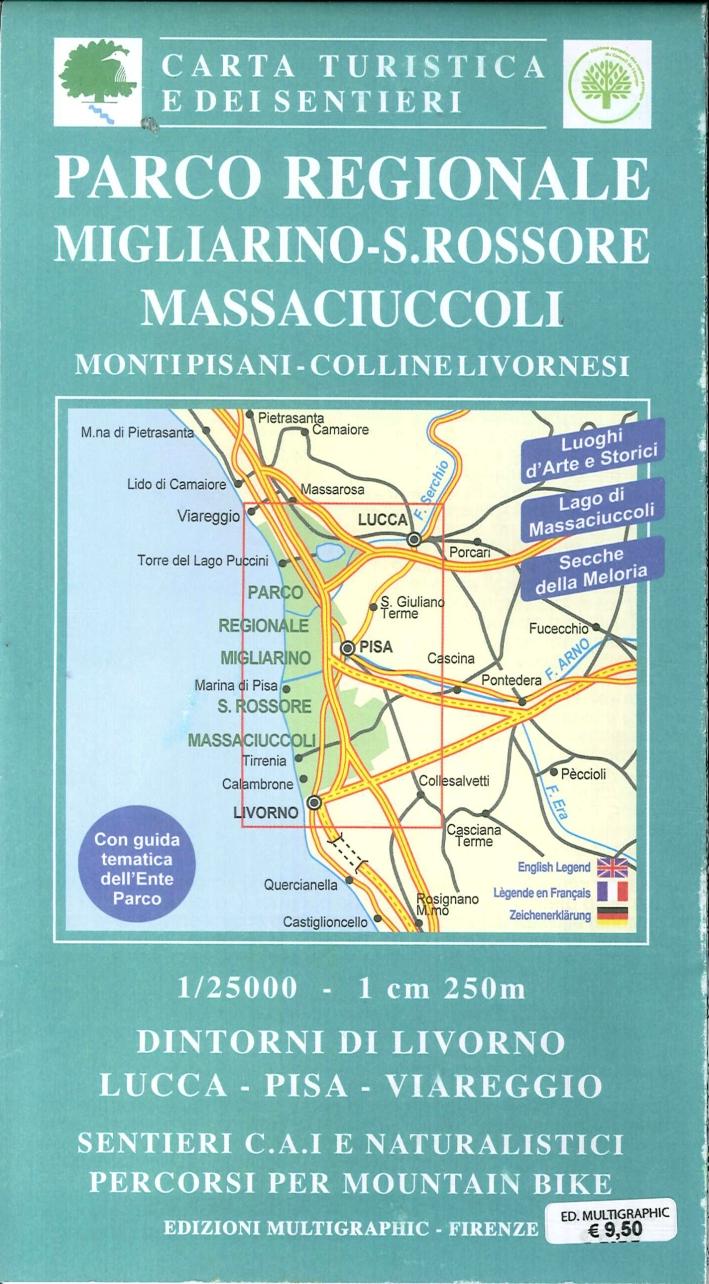 Parco Regionale Migliarino - S. Rossone Massaciuccoli. Monti Pisani, Colline Livornesi. 503. Scala 1:25000