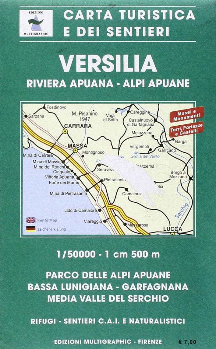 Versilia e Parco delle Alpi Apuane. Sacala 1:50000. 511