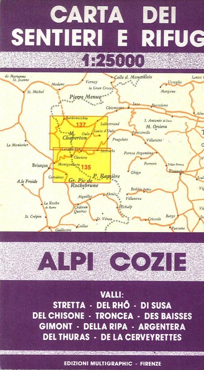 Alpi Cozie. 135/137. Scala 1:25000