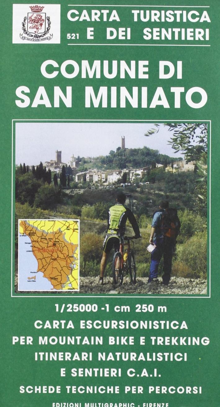 Itinerari nel Verde del Comune di San Miniato. Scala 1:20000. 528