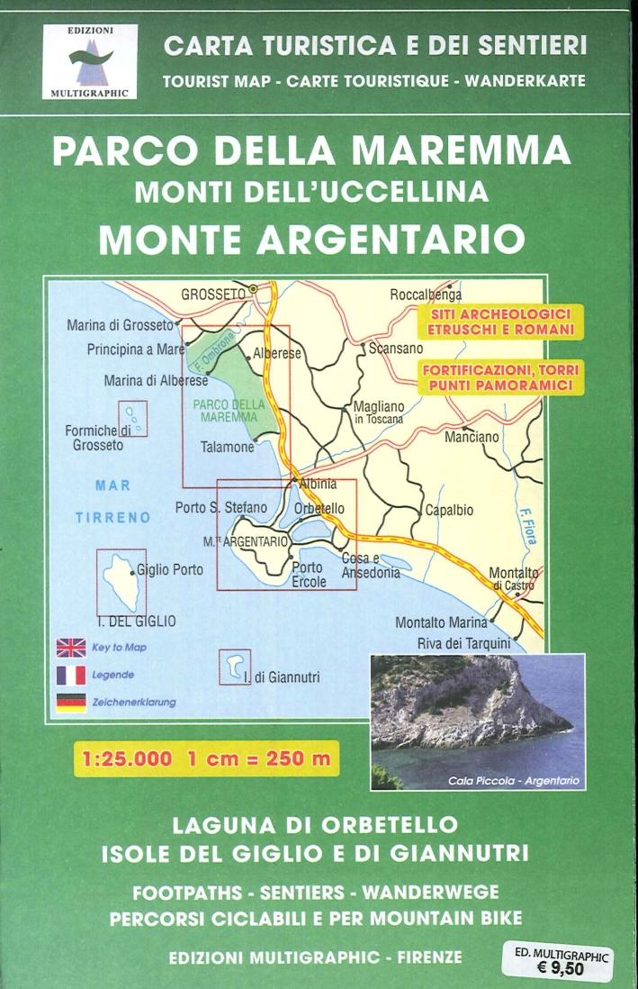 Parco Maremma. Monti dell'Uccellina. Monte argentario. 1: 25.000. 504