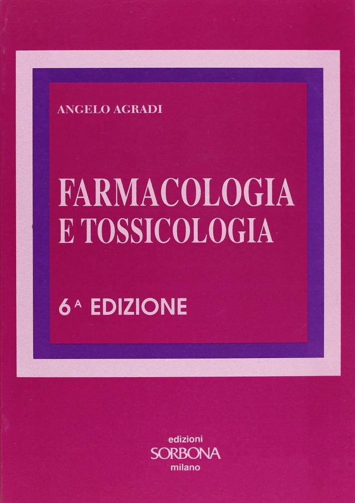 Farmacologia e tossicologia.