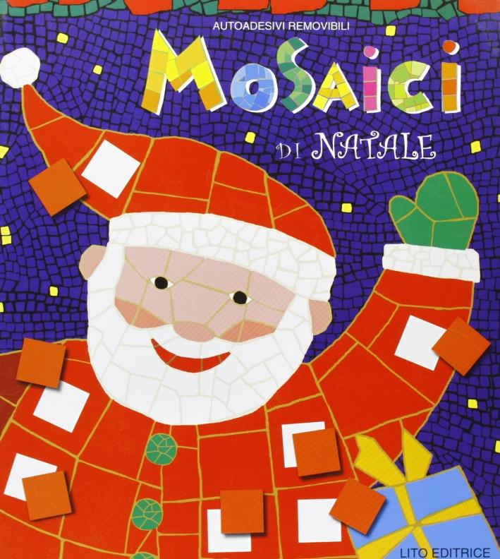 Giochi di Natale. Decorazioni di Natale da ritagliare-Mosaici di Natale. Con sticker