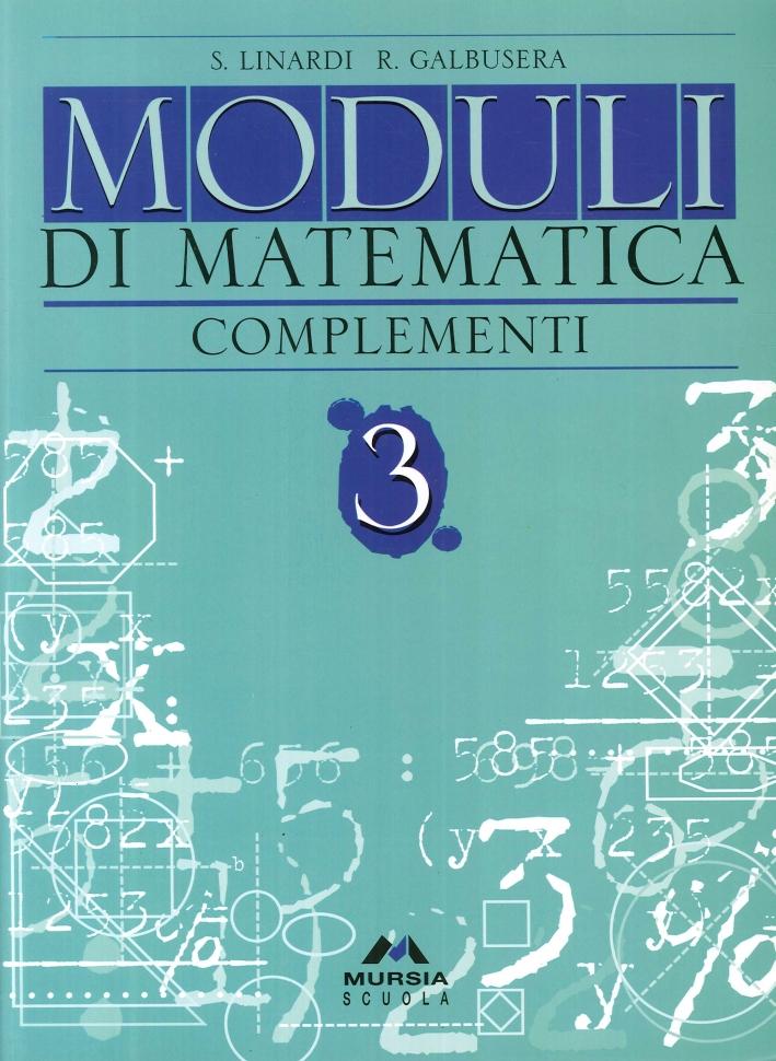 Moduli di matematica. Con complementi. 3.