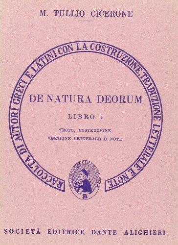 De natura deorum. Libro 1º. Versione interlineare