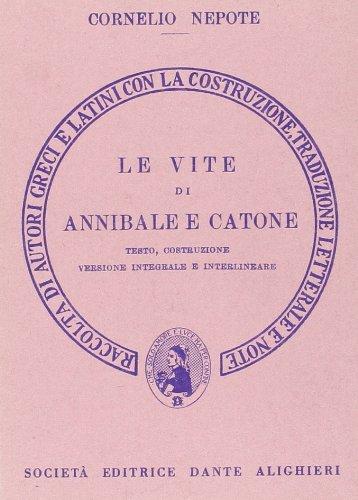 Le vite di Annibale e Catone. Versione interlineare