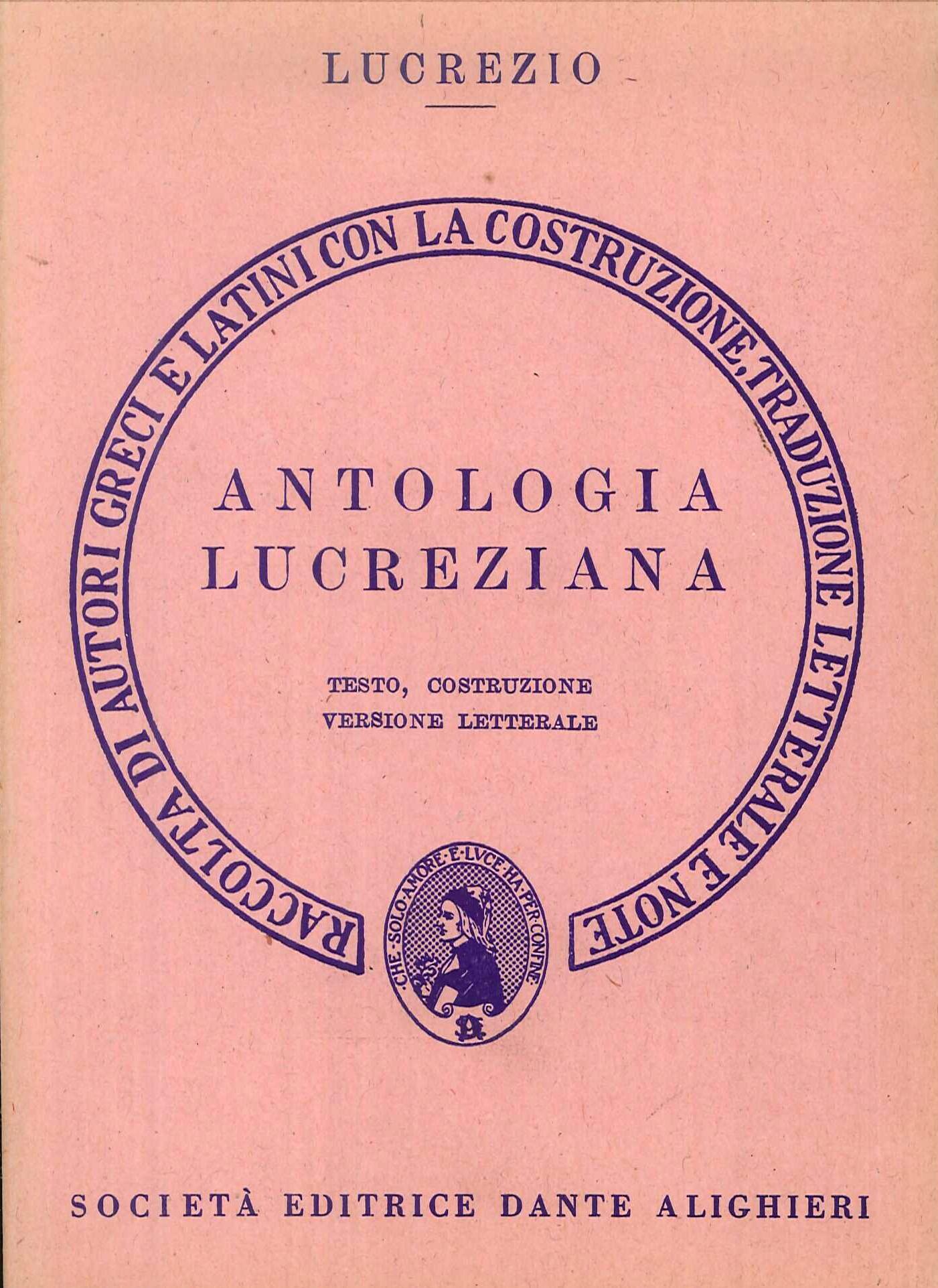 Antologia lucreziana. Versione interlineare