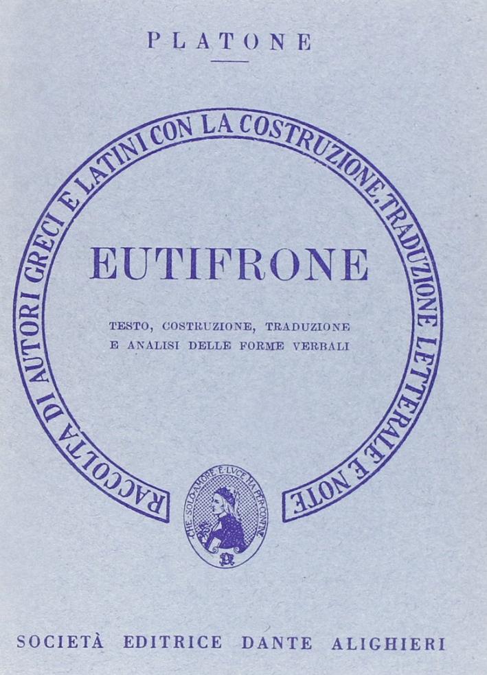 Eutifrone. Versione interlineare