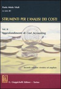 Strumenti per l'analisi dei costi. Vol. 2: Approfondimenti di cost accounting