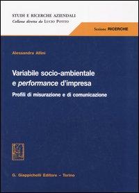 VARIABILE SOCIO-AMBIENTALE E PERFORMANCE D'IMPRESA. Profili di misurazione e di comunicazione