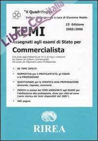 Temi assegnati agli esami di Stato per Commercialista