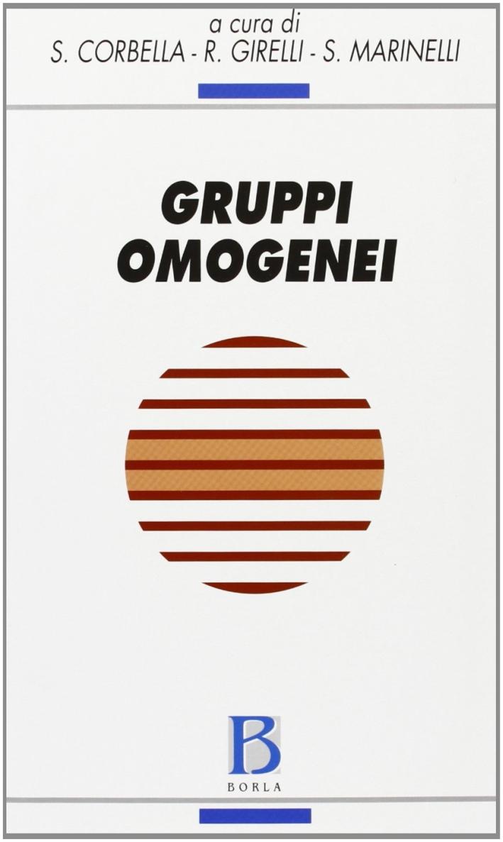 Gruppi omogenei. Teoria e clinica del campo mentale omogeneo.