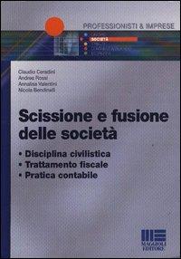 Scissione e fusione delle società