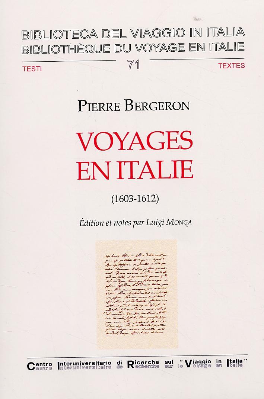 Voyages en Italie. 1603-1612