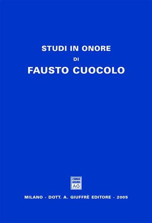 Studi in onore di Fausto Cuocolo