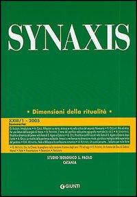 Quaderni di Synaxis. Vol. 23/1