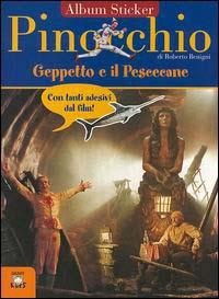 Pinocchio, Geppetto e il pescecane. Con immagini del film di Roberto Benigni