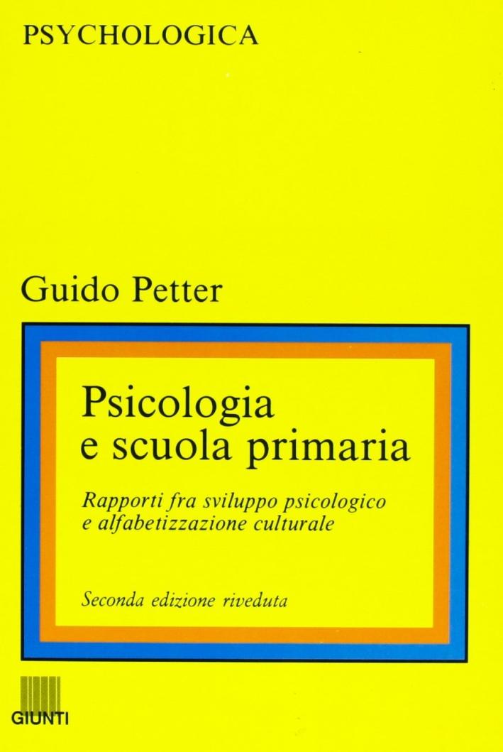 Psicologia e scuola primaria.