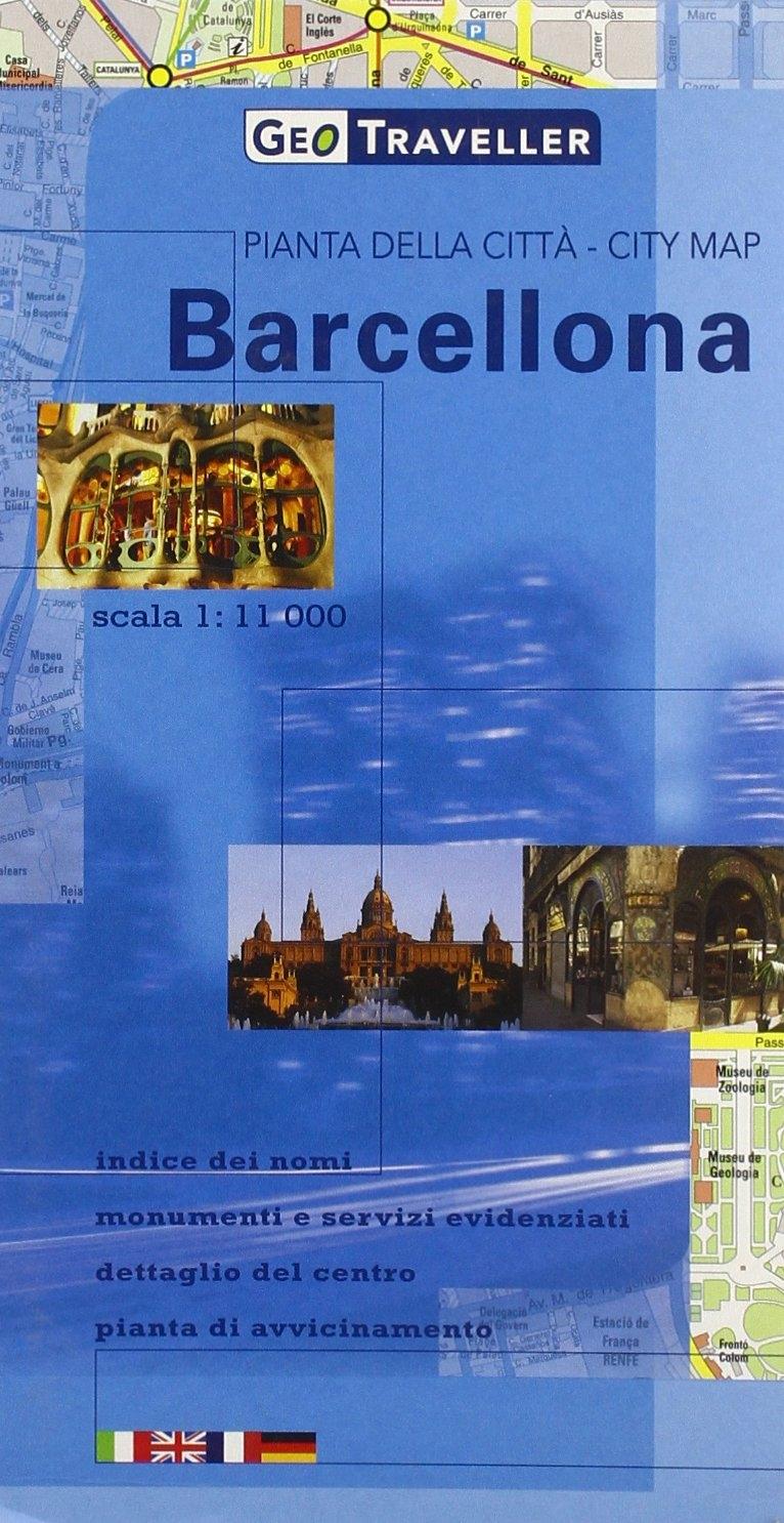 Barcellona. Pianta delle Cittàcity Map 1:11.000