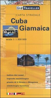 Cuba, Giamaica. Carta stradale 1:1.300.000