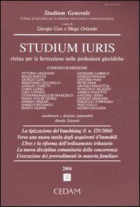 Studium iuris. Rivista per la formazione nelle professioni giuridiche (2004). Vol. 12