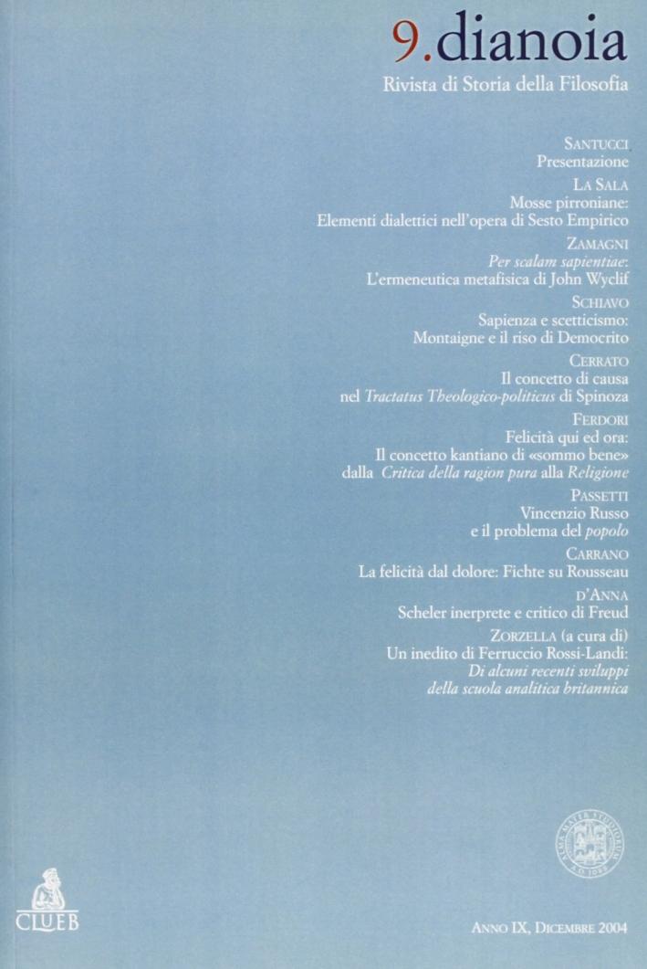 Dianoia. Annali di storia della filosofia. Vol. 9