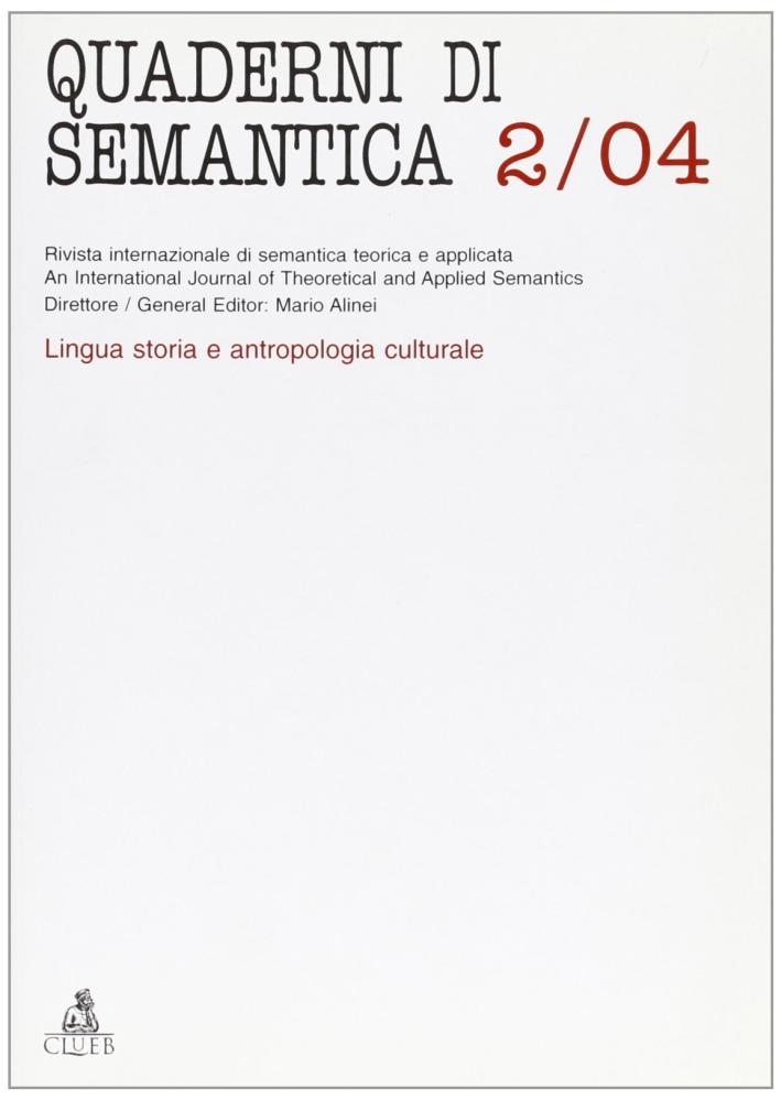 Quaderni di semantica (2004). Vol. 2