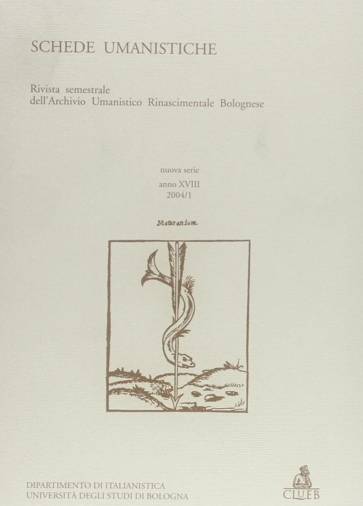 Schede umanistiche (2004). Vol. 1