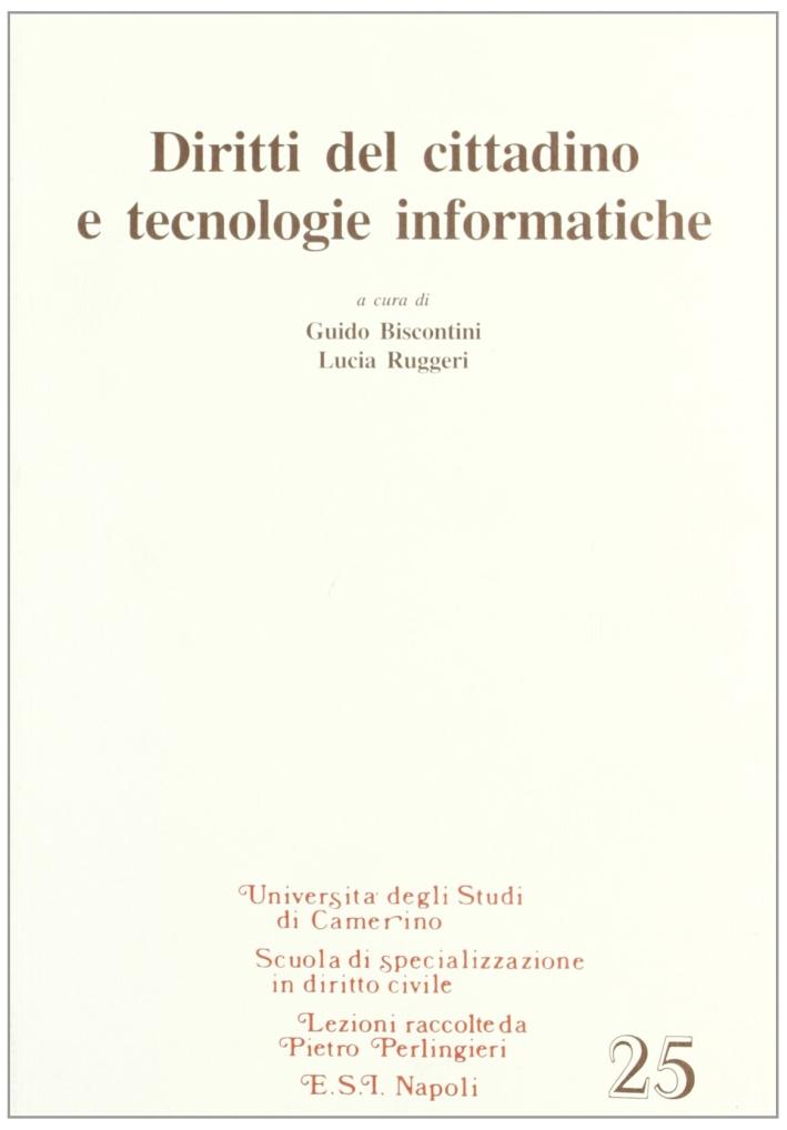 Diritti del cittadino e tecnologie informatiche