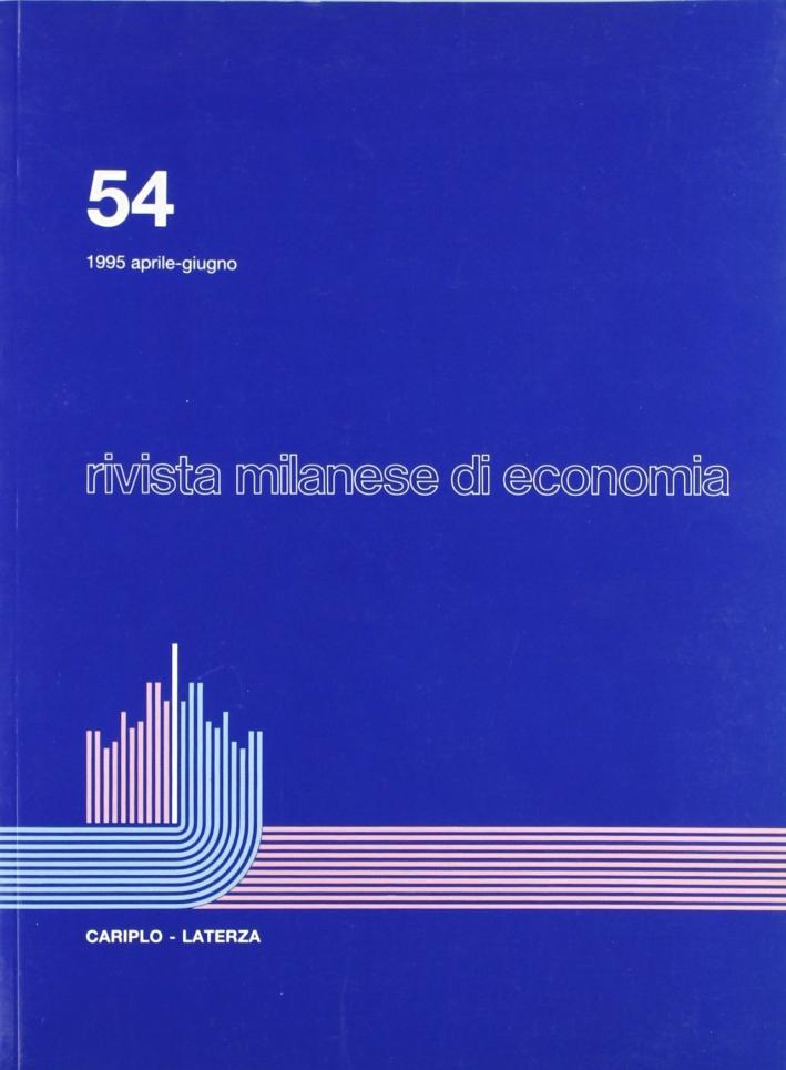 Rivista milanese di economia. Vol. 54